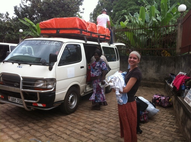 Loading Van Leaving Entebbe